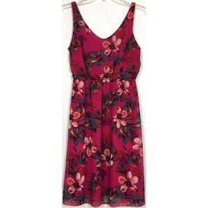 Old Navy Fuchsia Tropical Floral Dress